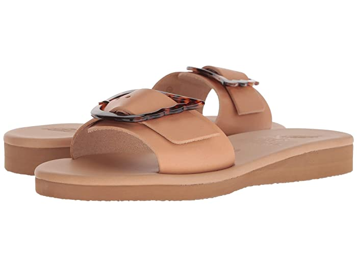 Ancient Greek Sandals  Aglaia (Natural/Tortoiseshell) Womens Shoes