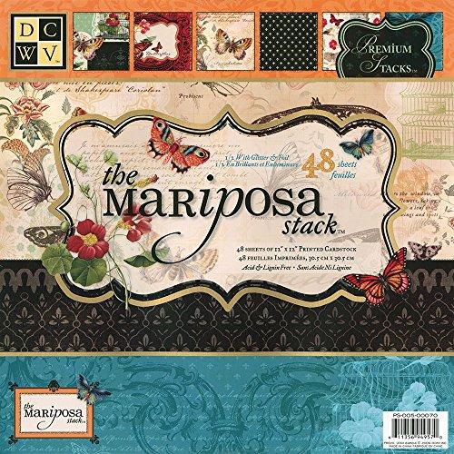 DCWV The Mariposa Stack de Papeles 30x30cm -