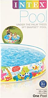 Under The Palm Trees Snapset 5-Foot Diameter Soft Kiddy Pool, 10 Inches Deep