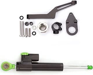FXCNC Adjustable Motorcycle Steering Damper Stabilizer & Mount For KAWASAKI ZX6R 2009-2017 Aluminum Black&Green