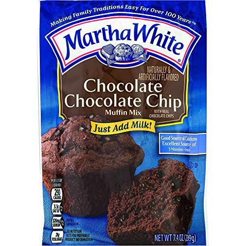 Martha White Muffin Baking Mix, Chocolate Chocolate Chip, 7.4 Ounce, Pack of 12