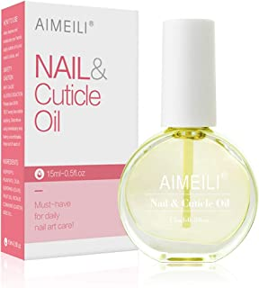 AIMEILI Natural Nail & Cuticle Oil, Cuticle Skin Care Nail Moisturizer 15ml