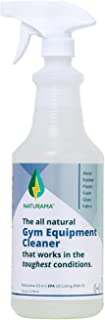 Naturama, Yoga Mat Cleaner Spray - All Natural Surface Cleaner for Yoga Mat, Wrestling Mat and other Exercise Equipment - Non Toxic (32 Ounce)