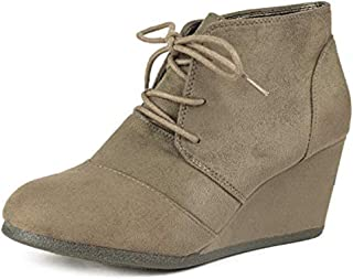 Best beige lace up booties Reviews