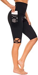Rolewpy High Waist Workout Leggings for Women, Yoga Capri Pants with Pocket for Tummy Control Activewear Clothes