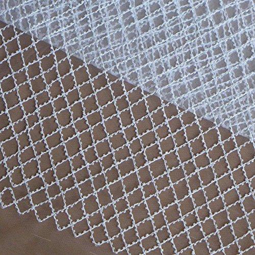 Lace Fabrics Off White/Black/Wine Beaded net Wedding Dress Fabric blackround/Lining 51'' Width 1 Yard (Off White)
