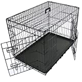 Greenbay Dog Crates Double Doors Foldable Metal Pet Puppy Cage with Tray Training