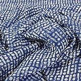 kawenSTOFFE Blau Blusenstoff 100% Polyester Blusenstoff