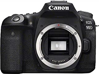 Canon EOS 90D - Cámara Réflex de 32.5 MP (Sensor APS-C 45 Puntos AF Disparos de 10fps EOS Movie 4k+Full HD Wi-fi Bluetooth) Negro