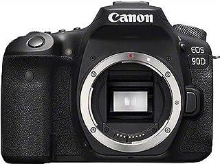 Canon EOS 90D - Cámara Réflex de 32.5 MP (Sensor APS-C, 45 Puntos AF, Disparos de 10fps, EOS Movie 4k+Full HD, Wi-fi, Bluetooth) Negro