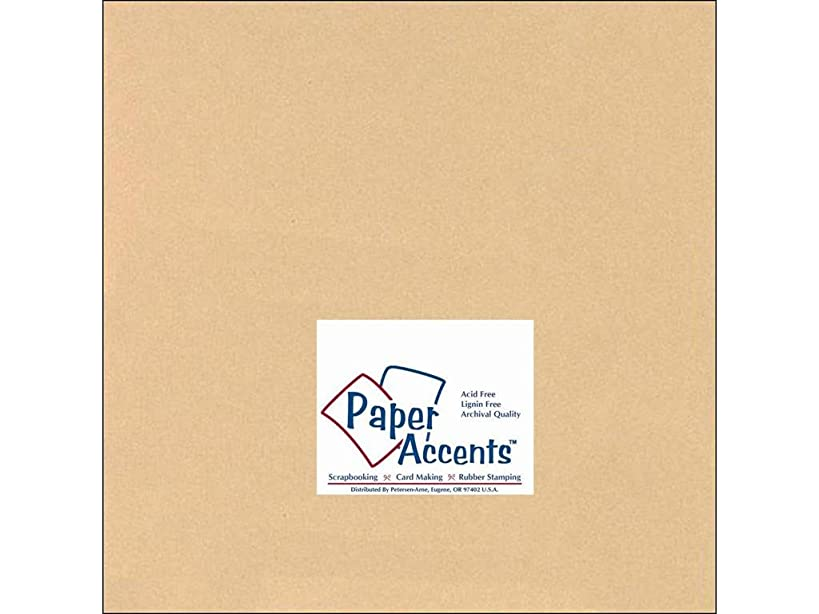 Accent Design Paper Accents Cdstk Smooth 12x12 60# Tan
