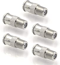 VCE 5-Pack F Type RG6 Male to Female Quick Coax Coaxial Cable Connector Adapter