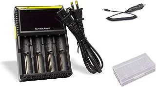 NiteCore NiteCore-D4+CAR-Adapter+BBOX D4 Charger with Integrated LCD Panel Display Li-Ion Ni-MH Ni-Cd Batteries with Bonus Car Adapter & Battery Box