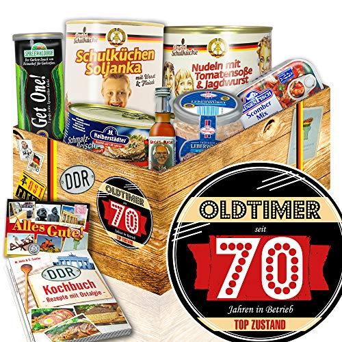 Oldtimer 70 - DDR Ostpaket - Geburtstagsgeschenk Oma - Ostprodukte Geschenkset