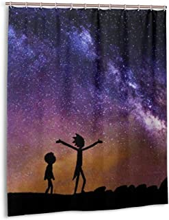 Olicsley Rick Morty Shower Curtain Liner Waterproof Polyester Fabric Bathroom Shower Curtain Fabric Shower Curtain 12 Hooks 60 X 72 Inches