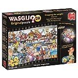 Jumbo Spiele Wasgij Originalpuzzle 28 - Hilfe, das Gewicht fällt! - 1000 Teile