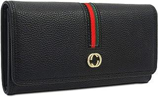 Sinianer Designer Long Wallet for Women, Retro Fashion Clutch Blocking PU Leather Card Holder Organizer with Zipper