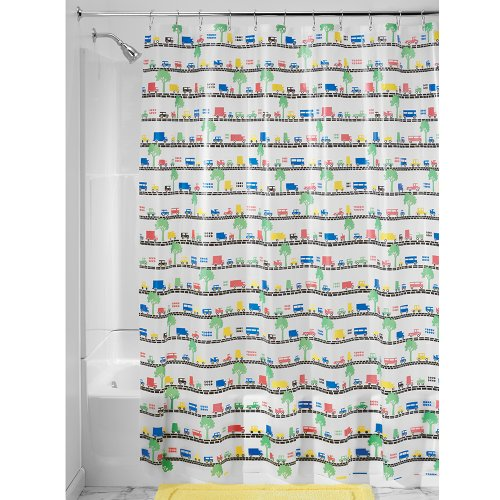 InterDesign - Beep Beep - Cortina para Ducha, 180 x 200 cm, Multicolor