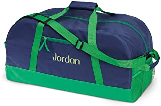 Navy and Green Kids Personalized Small Duffel Bag by Lillian Vernon (9