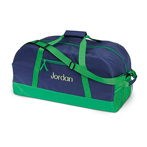 Navy and Green Kids Personalized Duffel Bags by Lillian Vernon c11bbcffa488a