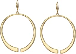 Sculptural Open Gypsy Hoop Earrings