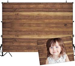 Allenjoy 7x5ft Vinyl Wood Wall Backdrop for Photography Rustic Natural Wooden Floor Photo Background Newborn Baby Photoshoot Portrait Studio Photographer Props Birthday Party Banner