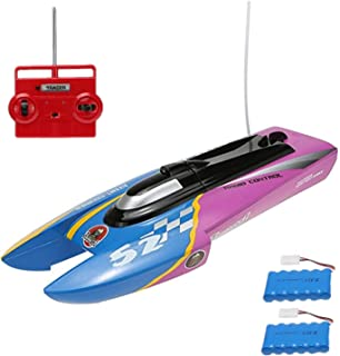 LBKR Tech Remote Control Boat,2 Channel RC Boat for Pools Lakes Rivers Ponds,The Wing Rush Electric RTR Remote Control Speed Craft for Kids Boys Girls ( Speed 10 KM/H,27Mhz )