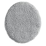InterDesign Microfiber Polyester Gray Spa Toilet Lid Cover
