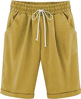 Kvinnor sommarshorts casual dam dragsko elastiska korta byxor