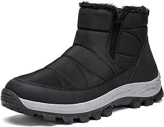 Womens Winter Snow Boots Slip On Ankle Bootie Anti-Slip Fur Lined Short Boots Waterproof Outdoor Footwear