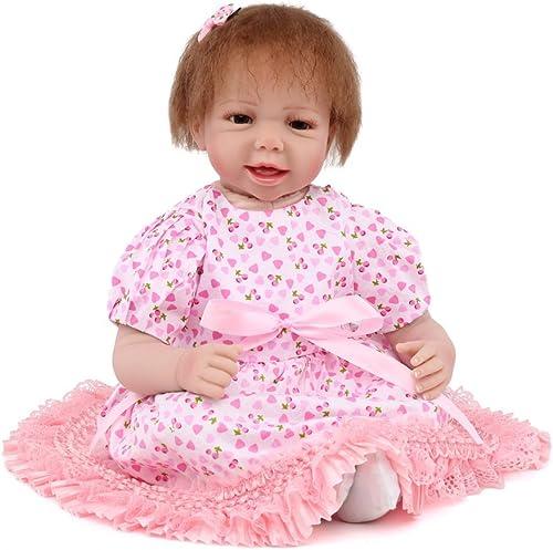 ATOYB Baby-Spielzeug-Simulations-Wiedergeburt Weiße Puppen-mädchen-Baby-kreatives Geschenk Reborn Baby