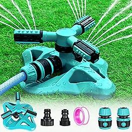 Arroseur de Jardin, Arroseur pour Pelouse Automatique Arrosage Système Irrigation Rotatif à 360° Grande Surface pour…