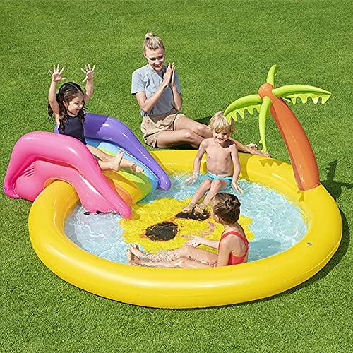 LGLE Piscina para Niños, Centro De Juegos Inflable, Centro de Juego Inflable para Niños, Juguetes de Agua al Aire Libre para Niños y Niñas,237×201×104cm,