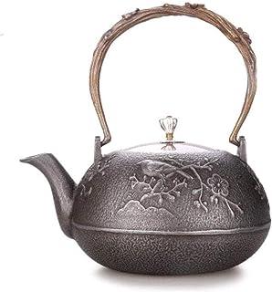 Épaissir Théière en fonte Théapot de thé, 1.2Lcopper Couverture en fonte Pot en fonte de style japonais Théière de fer cru...