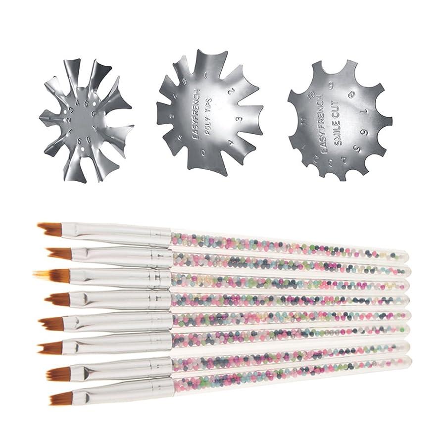 有罪博物館計算するCUTICATE ネイルペン ネイルガイド マニキュアブラシ ネイルブラシ フランスネイル シルバー