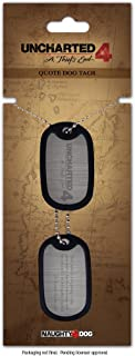 Uncharted 4 A Thiefs End Logo And Quote Dog Tags, Silver/black Ge3111