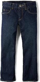The Children's Place Big Boys' Bootcut-Jeans, Authentic Wash, 8