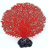 DealMux plástico acuario artificial acuática Coral Planta Forma Decoración 6,3 pulgadas Altura Rojo
