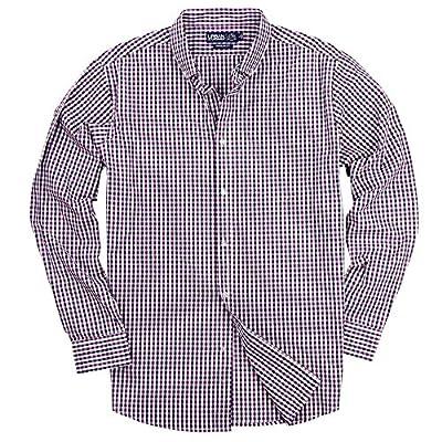 Urban Boundaries Men's 100% Cotton Plaid Long Sleeve Shirt