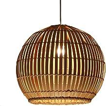 Estilo de la dinastía Tang china Restaurante escandinavo simple Luces Esfera Arte Tejido de ratán Estudio japonés Salón Lámpara de bambú E27 (Tamaño: 404043cm)