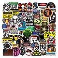 Hard Hat Stickers for Tool Box Helmet [100pcs] - Funny Cool Vinyl Sticker for Men Construction Welding Union Military Ironworker Lineman Oilfield Electrician Pipeliner Ibew - American Patriotic Decals