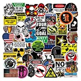 Hard Hat Stickers for Tool Box [105pcs] - Funny Sticker for Helmet Hardhat, Gifts for Adult Essential Wokers Welders Construction Union Military Oilfield Electrician, American Patriotic Vinyl Decals