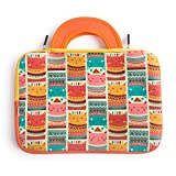 """Chumbak Smiling Sweater Cats Laptop Sleeve - 13""""- Compatible with MacBook, Notebook Computer"""