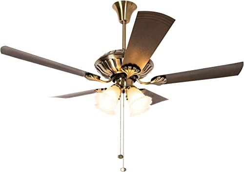 Crompton Jupiter Ceiling Fan with Decorative Lights - 1200 mm (Brass)