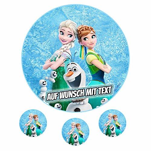 Tortenaufleger Fototorte Oblate Tortenbild Geburtstag eßbar Motiv: Frozen Eiskönigin 01 (Oblatenpapier)