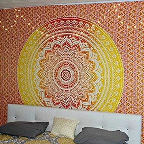 Tapiz de mandala indio colgante de pared tapiz bohemio manta de toalla de playa decoración de la pared del hogar tela de fondo A15 130x150cm