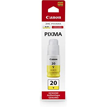 Canon GI-20 Yellow Ink Bottle, Compatible to PIXMA G6020 and G5020 MegaTank Printers