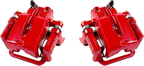 CCK12598 [2] REAR Performance Grade Red Powder Coated Semi-Loaded Caliper Assembly Pair Set