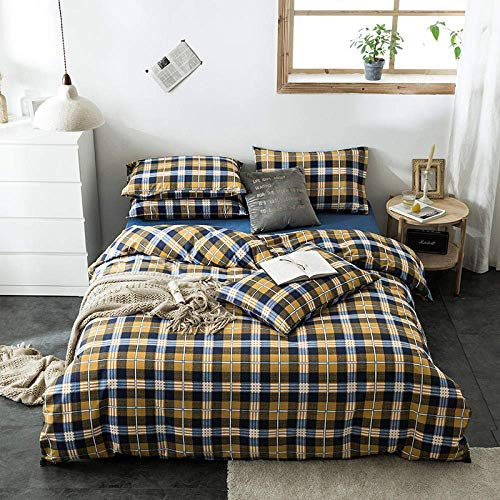 Bedding Sets Four-Piece Bed Three-Piece Bed Bedding Bed Cover Printed Four-Piece Bed Sheet Duvet Cover Student Bedding-Hc Andorra_Three-Piece Duvet Cover: 160*210 Bed Sheet: 120*200 Pillowcase: 48*74*