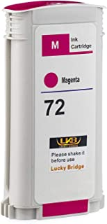 LKB 1PK Compatible HP72 Ink Cartridge Magenta Replacement 130ML Use with designjet T1100 T1200 T1100ps T1120 SD-MFP T1120p...